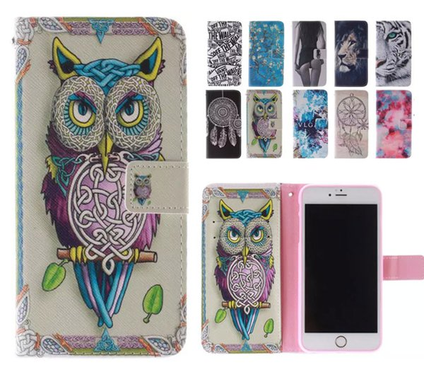 Sexy Girls Dream catcher Owl Wallet Flip Leather Case for iphone X 8 7 6 Plus Samsung S8 S9 Plus Note 8 9 A8 2018 Huawei LG Sony Nokia