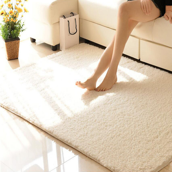 40x60cm/50x80cm Customize Carpet Soft Bedroom Cushions Living Room Kitchen Non-slip Sofa Table Bedside Mats Solid 2017