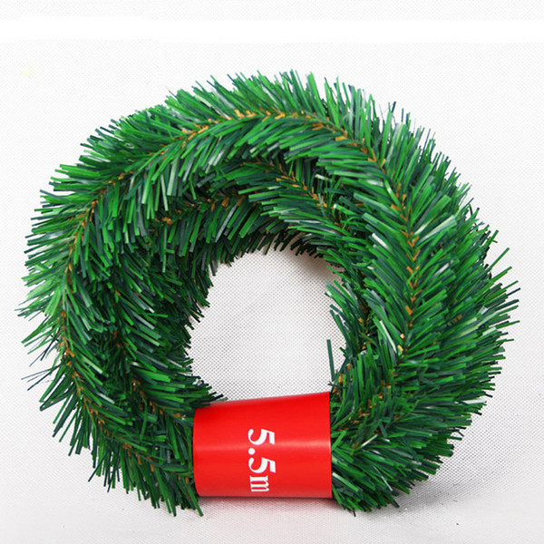 5.5m Christmas Cane Changable Modelling Article Grass Christmas Decorations Striped 5 Colors Eco-friendly Party Supplies