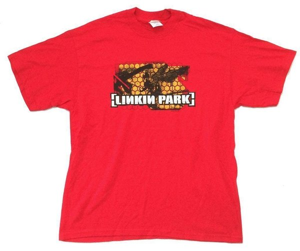 Linkin Park Hybrid Theory Soldier Red T Shirt New Official 2001 Nos Random T Shirts Poker T Shirts From Amesion81 11 79 Dhgate Com