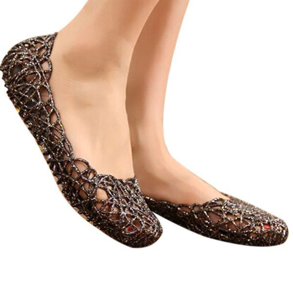 Nuove donne scarpe casual gelatina Tenis Feminino Mesh Flats Sandali Femininas Moda Donna Sandali Formato degli Stati Uniti 6-8.5