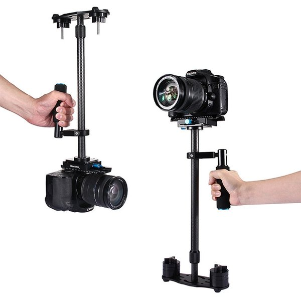 PULUZ 38.5-61cm Carbon Fiber Handheld Stabilizer for DSLR & DV Digital Video & Cameras Mini Video Stabilizer