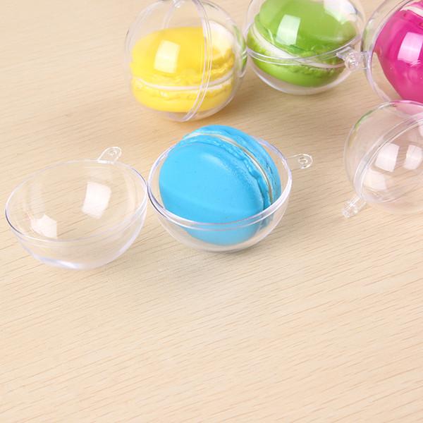 75pcs 4/5cm Ball Christmas Tree Decor Ornament Type Box Transparent Plastic Craft Christmas Gift Boxes plastic ball