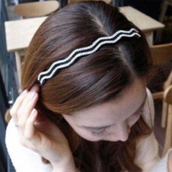 Hair drills Korean Edition full quality drill wavy toothed wide band hoop wide head hoop buckle