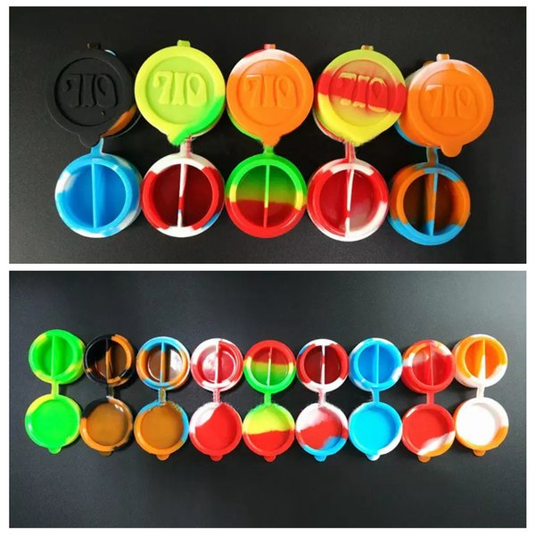 top popular 10ml 2-in-1 Silicone Wax Container Box Jars Smok Tools for Glasses Bong Pipe Vape Dry Herb Vaporizer Kitchen Accessories Home Decer AAA372 2019