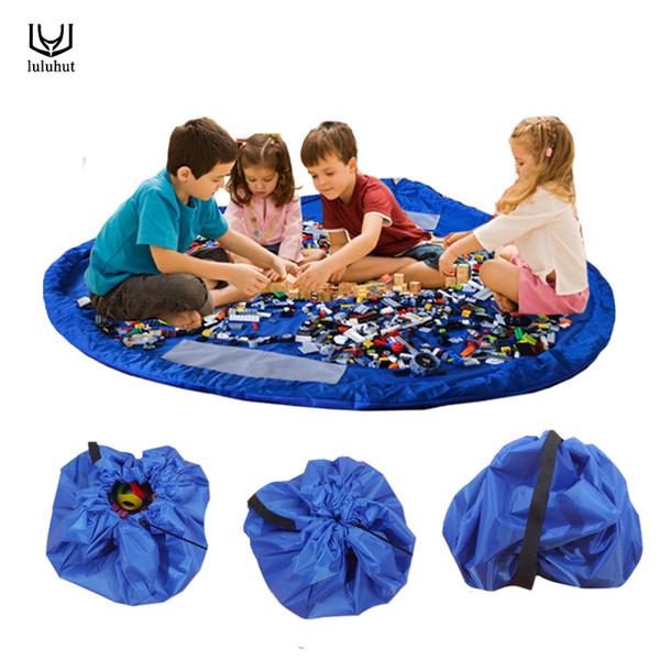 luluhut portable kids toys storage box 150cm diameter large storage bag child toys dolls organizer rug for picnic play mat