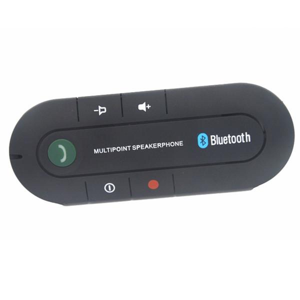 Multipoint Speakerphone 4.1+EDR Wireless Bluetooth Handsfree Car Kit MP3 Music Player for Smart Phone + sun visor Holder