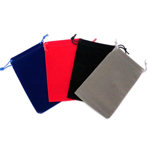 20pcs 10 * 16cm velours cordon sac pochette / sac à bijoux / sac cadeau de mariage / jouets sac / sac de tablette sac boîte à bijoux afficher 4 couleurs en gros
