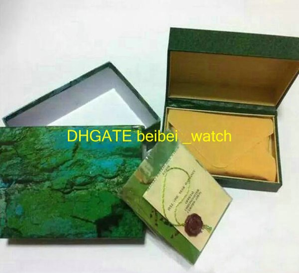 Free shipping Luxury watch Mens For Watch Box Original Inner Outer Womans Watches Boxes Men Wristwatch Green box booklet card