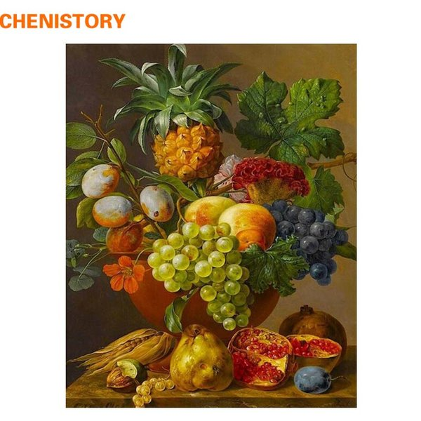 2019 Chenistory Fruit Basket Picture Diy Digital Painting By Numbers Europe Home Wall Artwork Canvas Painting For Room Decoration From Hymen 29 83