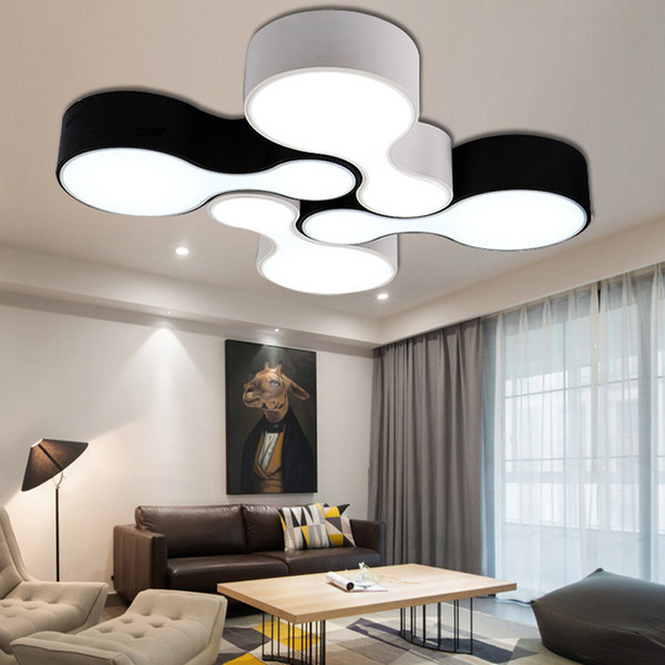 Creative free combination ceiling lamp black white bowling living room bedroom restaurant clothing store network bar ceiling projectors