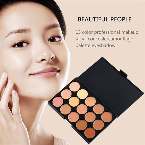 15 Color Cream Base Palettes Matte Contouring Professional Makeup Facial Concealer Camouflage Palette Eyeshadow
