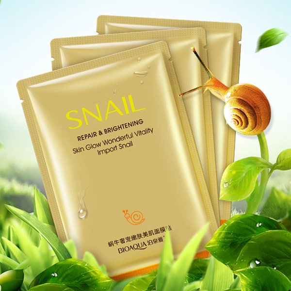 BIOAQUA Original Korean Cosmetics Snail Moisturizing Face Mask Moisturizing Invisible Cosmetics Skin Care Facial Mask