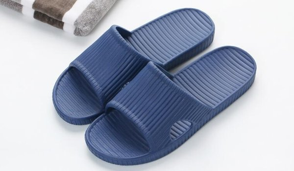 new Japanese style summer couple massage bathroom non-slip soft bottom slippers solid color men and women home indoor soft bottom sandals