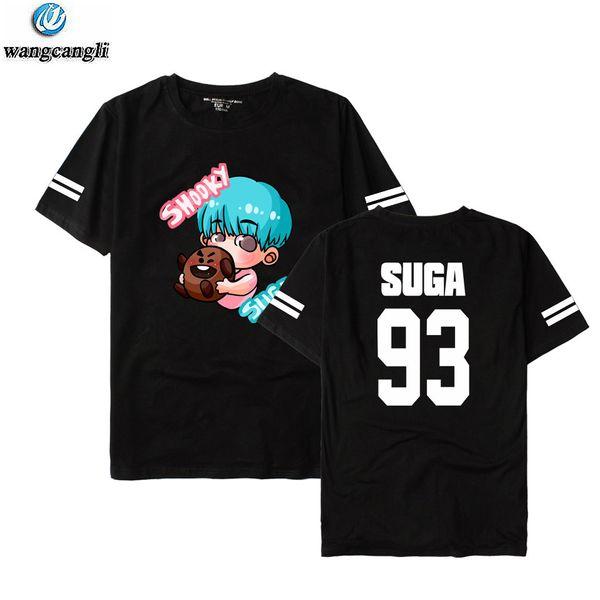 2018 Nouveau T-shirt KPOP BTS SUGA JIN JUNGKOOK Harajuku Bigbang T-shirt SOL TaeYang T-shirt T-shirt unisexe T-shirts Bangtan Boys