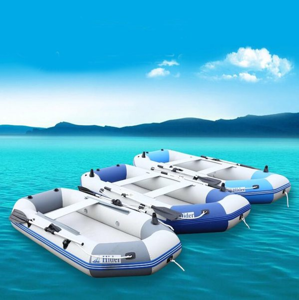 2019 2 6 Person Inflatable Boat Inflatable Rafting Fishing Dinghy Tender Pontoon Boat Fish Hunter Person Inflatable Raft Boat Kayaks From