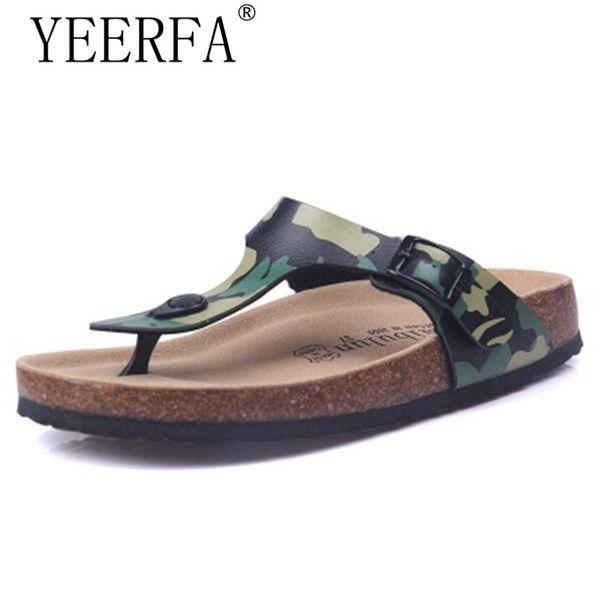 Men Slippers Flip Flops Summer Beach Cork Shoes Slides Male Flats Sandals Casual Shoes Mixed Colors eur Size 35-45