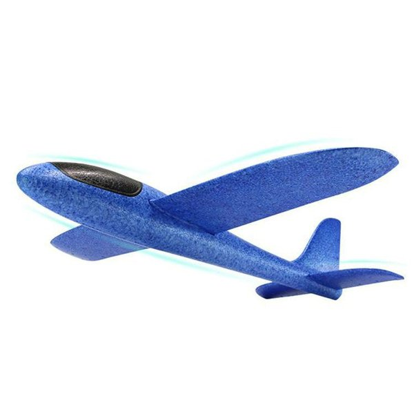Hand Launch Throwing Glider Aircraft Inertial Foam EVA Airplane Toy Plane Model Outdoor Fun Sports Plane Model Interesting Toys 48cm 3pcs
