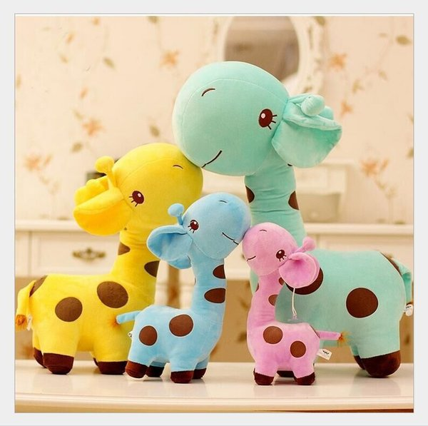 5 Colors 18cm Giraffe deer Stuffed Animals doll Car window decoration Sucker pendant Stuffed Animals Toy Holiday gifts for children