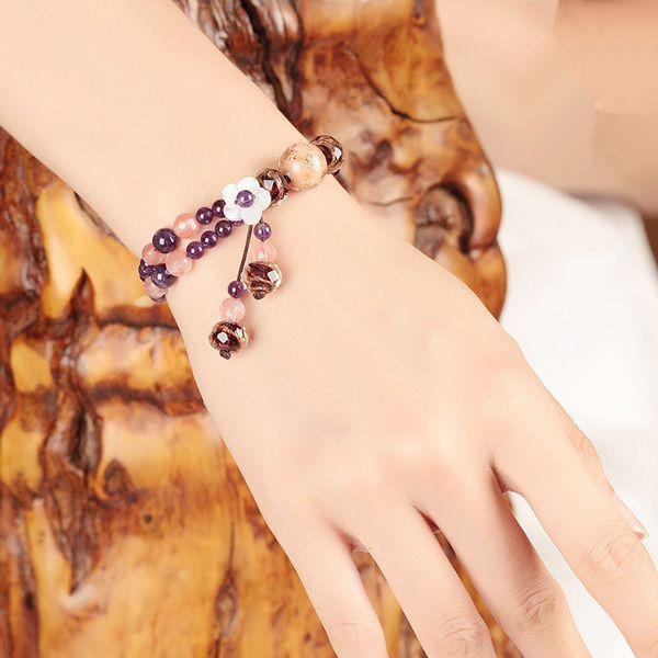 Fashion Bracelets For Women Crystal Vintage Jewelry Charms Beads Bangles Bracelet Femme Bileklik Pulseras Mujer Love Gift