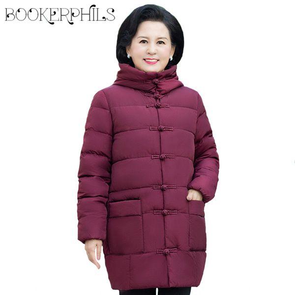 Plus Size 5XL cappotto di cotone donne Medioevo 2018 inverno Parka con cappuccio di spessore giacca femminile di spessore Allentato capispalla imbottito madre