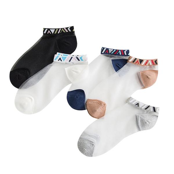 80PAIRS/LOT SINGYOU New Spring Summer Thin Women Grass Silk Sock Casual Transparent Crystal Female Fashion Short Socks