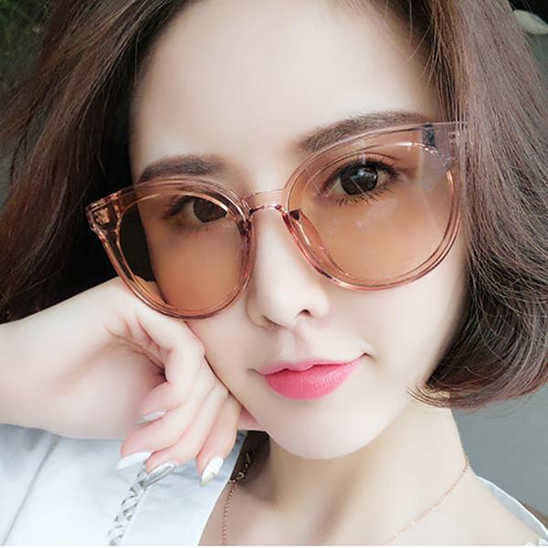 Высокое качество кадр мода очки Женщины и мужчины очки кадр старинные круглые прозрачные линзы очки большая рамка солнцезащитные очки