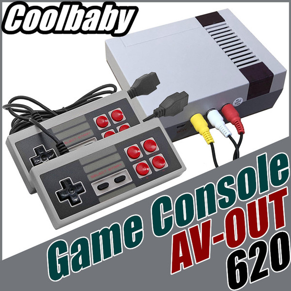 DHL Coolbaby Four buttons Mini TV Game Console Video Handheld for NES games consoles with Small retail boxs B-JY