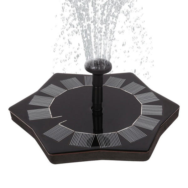 Solar Fountain Pump 1.4W Garden Solar Water Pump Powered Water Floating Fountain for Birdbaths or Ponds New