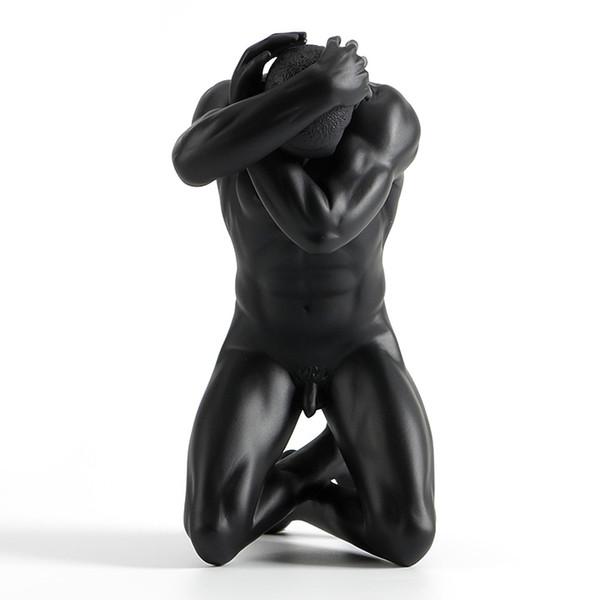 Resin, creative ornaments, body art, modern naked men masculinity, soft furnishings, home ac Resin ornaments sculpture soft home furnishings