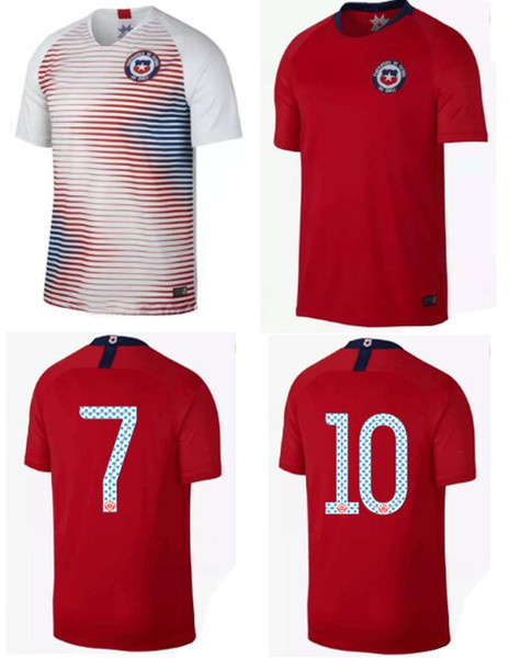 huge selection of 709da efa7e 2019 Camisetas De Futbol Chile Soccer Jerseys World Cup 2018 Chilean Local  Away White U Home Arturo Vidal Outfits Alexis Sanchez Football Shirts From  ...