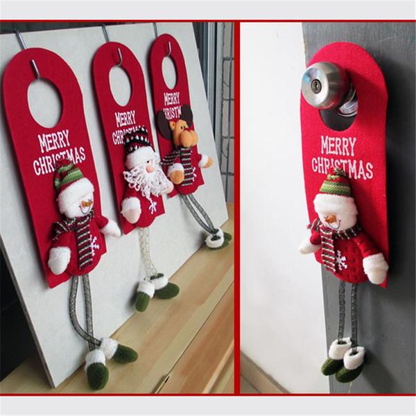 Árbol de navidad Decoración Colgante de la Puerta Colgante Adorno Decoraciones de Navidad Para el Hotel Casa Puerta Regalo de Navidad Decoración Natal Papá Noel muñeco de nieve