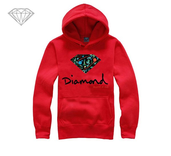 Diamond Supply hoodie for men free shipping diamonds hoodies hip hop brand new 2018 sweatshirt men's clothes pullover M18