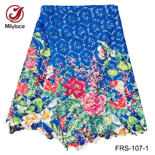 Wholesale price guipure lace fabric mix color embroidery water soluble lace fabric 5 yards per lot FRS-107