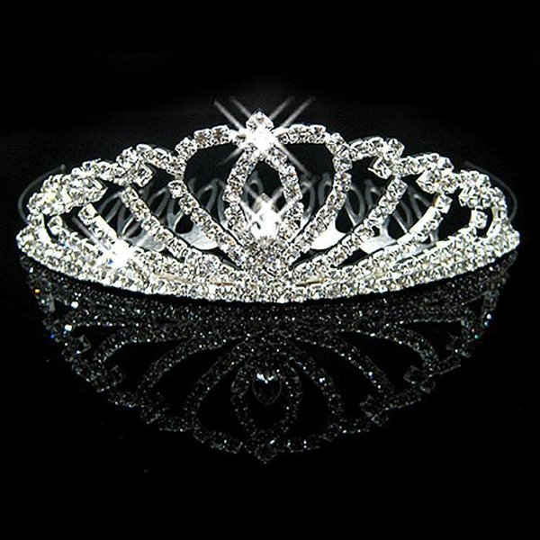 Rhinestones Crystals Bridal Tiaras Crowns Wedding Jewelry Girls Evening Prom Homecoming Party Shining Tiaras Hair Accessories