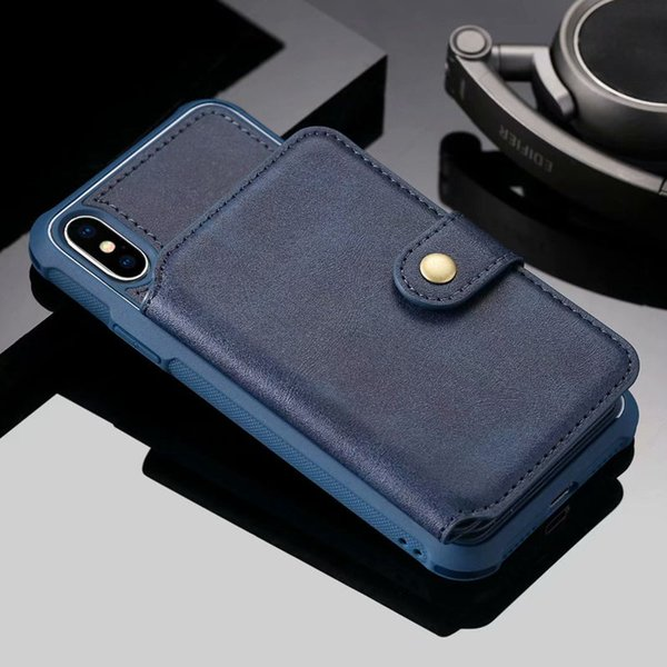 For Apple iphone XR XS XS MAX 2018 case leather zipper phone cases for iphone X 8 7 6S Plus Case wallet Cover