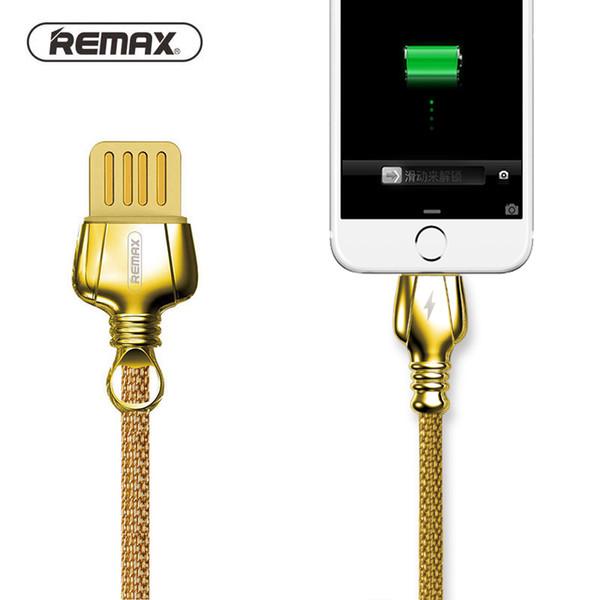 Cavo metallico USB doppio lato REMAX con cavo intrecciato Cavo telefonico Ricarica rapida dati per x 5 5S 6 6S 7 8 Plus
