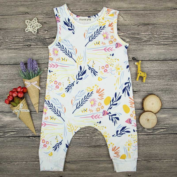 Fashion BabySuit Newborn Kids Toddler Baby Girl Clothes Sleeveless Romper Floral Baby Clothes Jumpsuit Playsuit Sunsuit