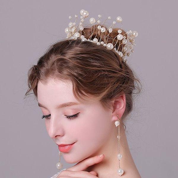 Headband Wedding Accessories Shiny Luxury Headdress Bridal Hair Elegant in Rhinestone Crowns Adjustable Bridal Wedding Princess Party