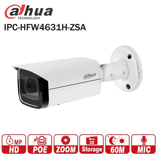 Dahua 6MP IP Camera IPC HFW4631H ZSA Upgrade Version Of IPC HFW4431R Z With  Build In Microphone SD Card Slot PoE Camera 6mp Ip Based Web Camera Ip Cam