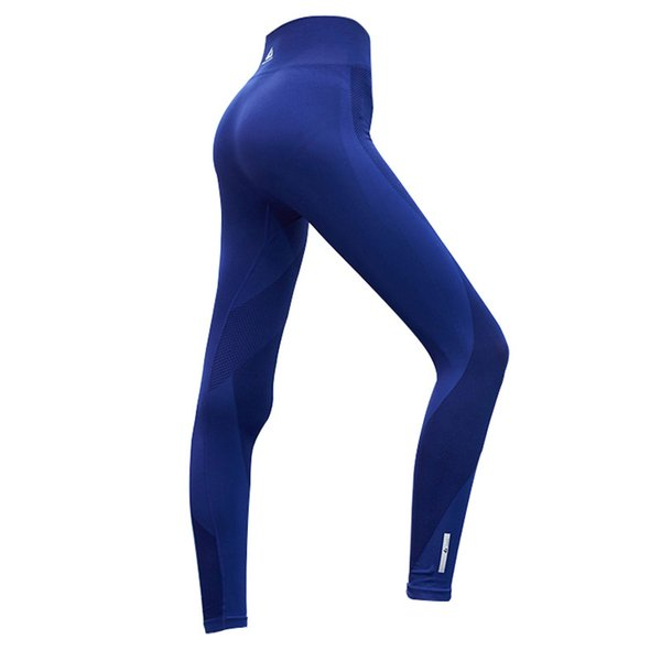 7b873e445e4a6 Quick-drying Mesh Breathable Yoga Pants Black Blue High Elastic Running  Fitness Slim Sport Pants Gym Leggings for Women Trousers