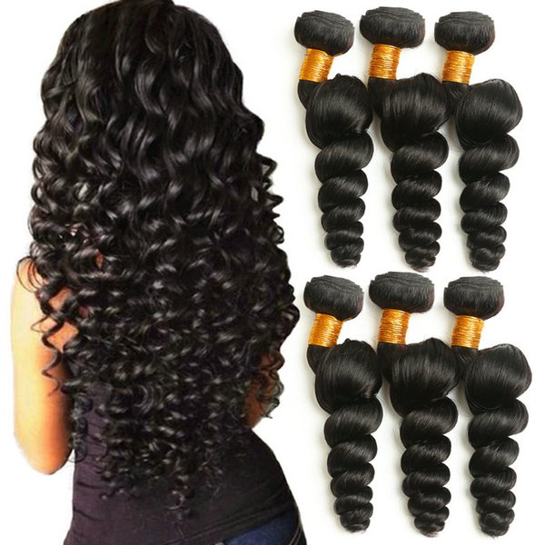cheap russian hair bundles 100% pure russian hair 8A Grade loose wave extension human hair weaving