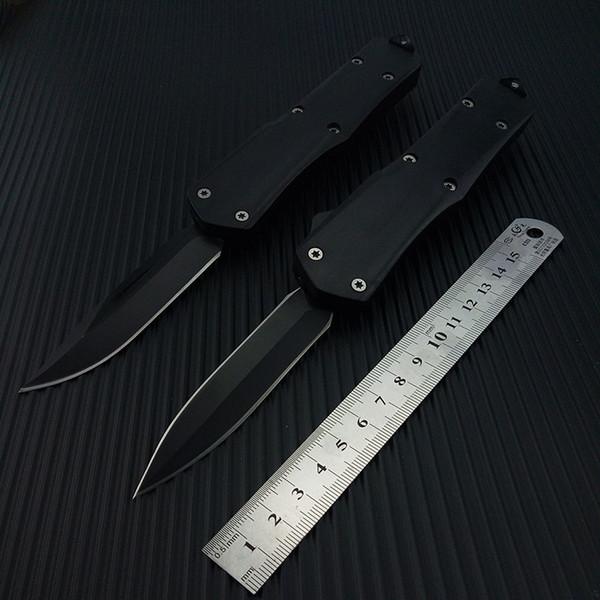 Taktik bıçak Bahar Yardımı bıçaklar Çift Kenar / Tek Kenar Survival Bıçaklar Havacılık Alüminyum Kolu 8.8 inç Damla Nakliye