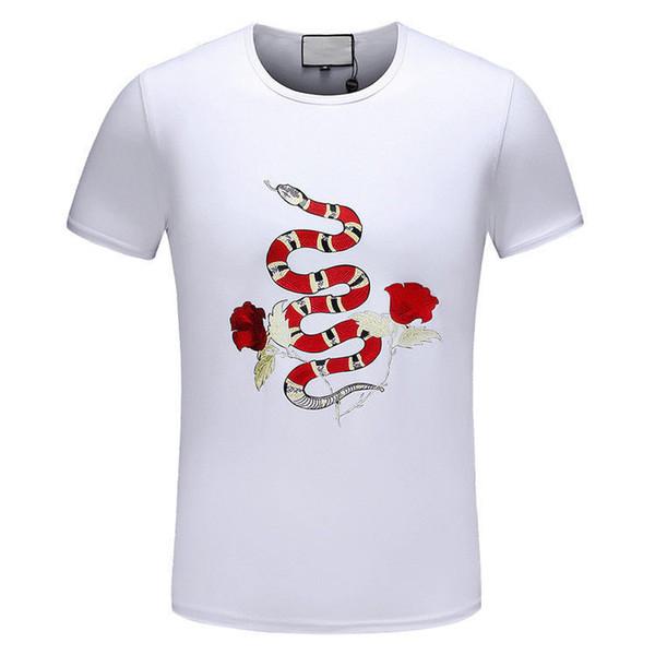 2018 Ünlü Moda Yeni Tasarım erkek Pamuk T Shirt Baskı kısa kollu T Gömlek Marka T-Shirt Erkekler 2018 Moda