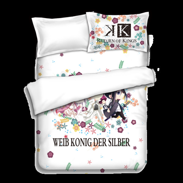 Japanese Anime K Bed sheets Bedding Sheet Bedding Sets Quilt Cover Pillow Case Bedcover 4PCS