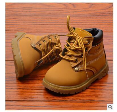 2018 Confortable Enfants Hiver Mode Enfant En Cuir Neige Bottes Pour Filles Garçons Chaud Martin Bottes Chaussures Casual En Peluche Enfant Bébé Toddler Chaussures