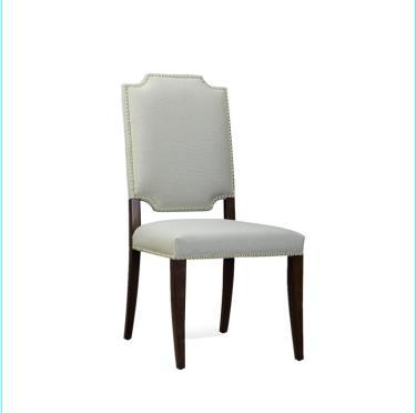 CHAIR.Wedding supplies,birch/ju wood, Furniture Habit White Solid Wood Tufted Parsons Dining Chair ,royal/ceremony/party wood seat