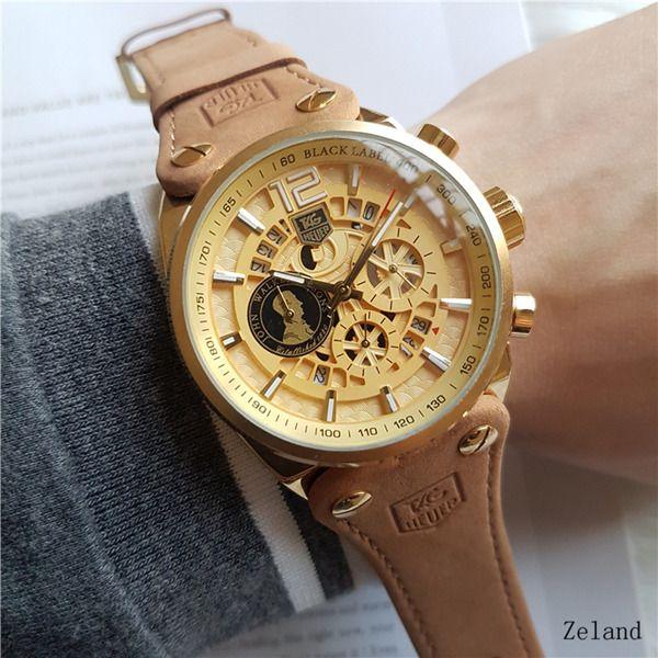 2018 Top Brand Vendita calda Famous Man Watch in pelle da donna Fashion Dress Watch Herm lusso di alta qualità in acciaio inossidabile piccolo quadrante può funzionare