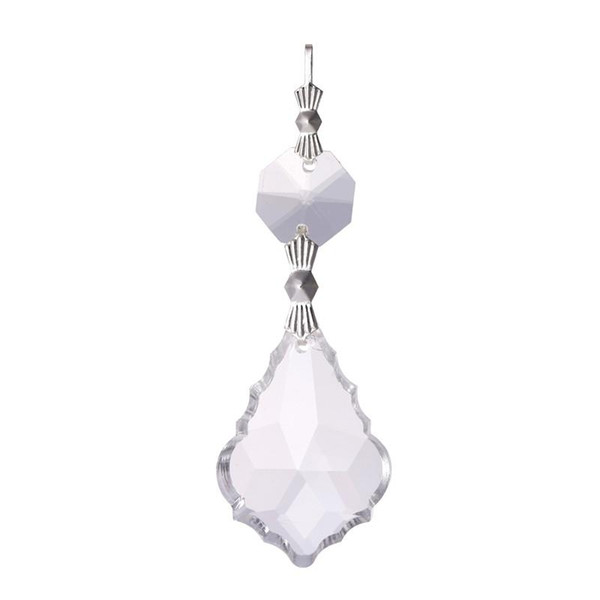 10PCS Clear 38cm French BEAUTIFUL Chandelier Glass Crystals Lamp Prisms Parts Hanging Pendant