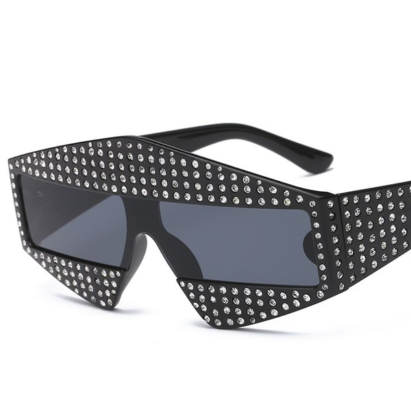New Designer Fashion Rhinestone Sunglasses Womens Mens Luxury Sunglasses High Quality Party Square Sun Glasses